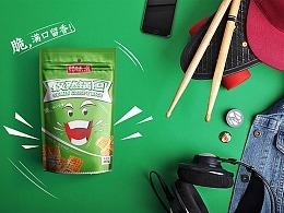 恰味滋休闲食品锅巴零食包装西安厚启设计