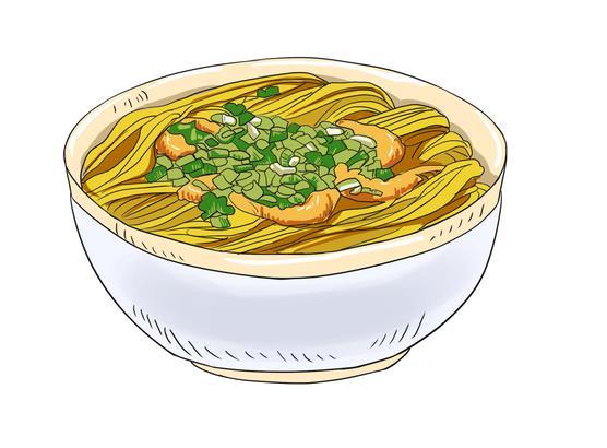 原创作品:手绘美食地图