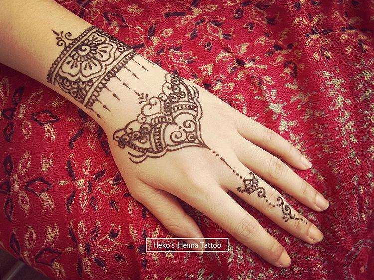 我的henna tattoo(海娜纹身)