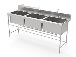 AutoCAD厨房橱柜水槽水龙头建模和渲染训练案例