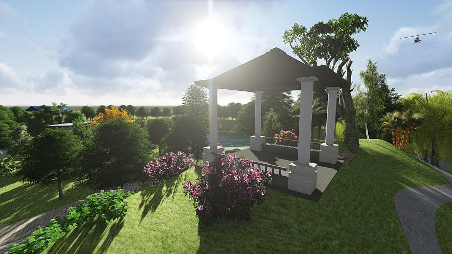 新中式景观园林设计图片