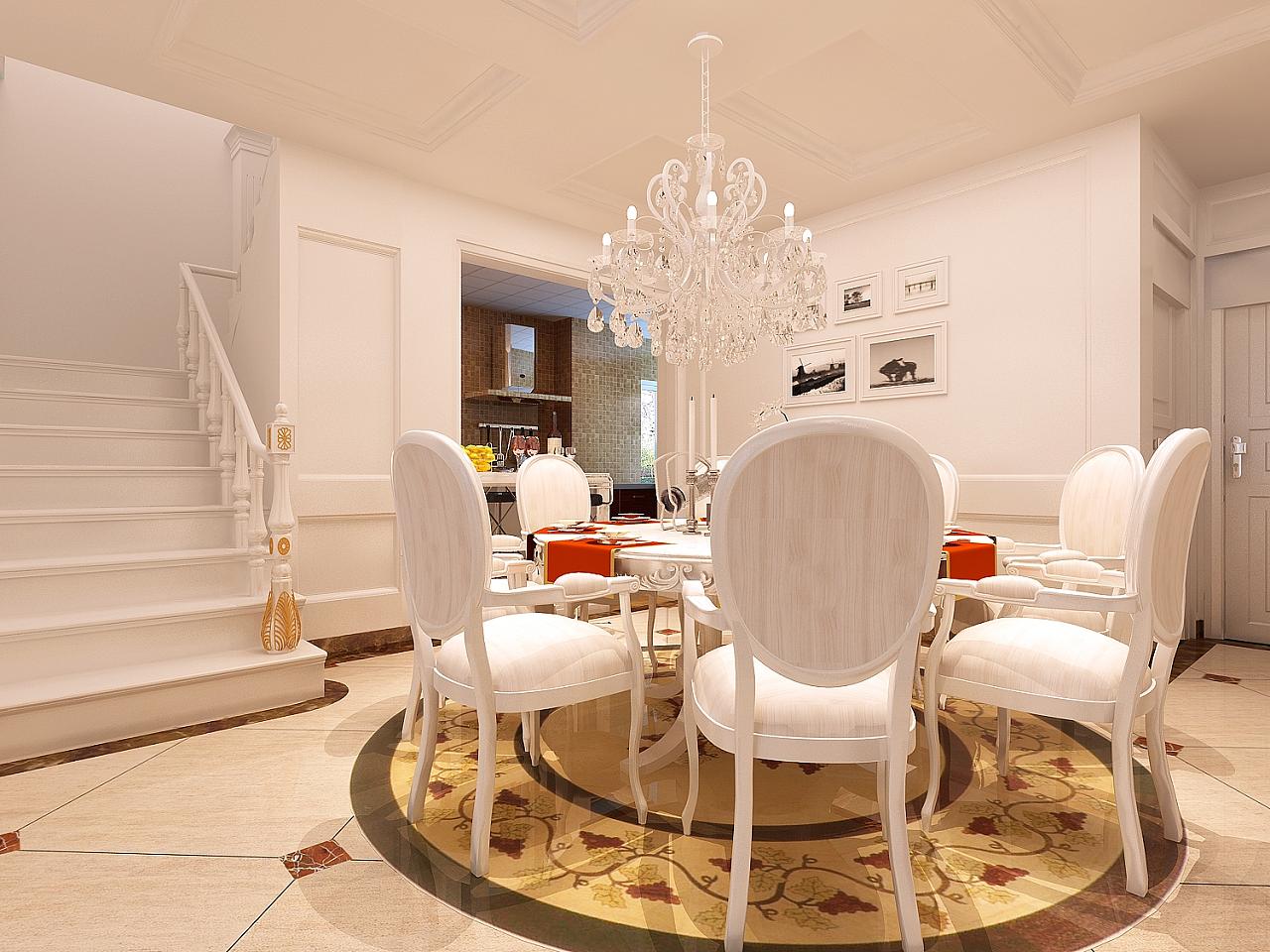 贵阳市金源国际200平米复式楼简欧风格装修效果图分享图片