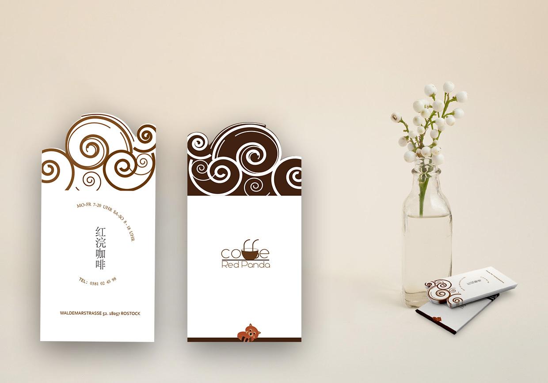 异形名片的灵感来源是咖啡的香气.图片