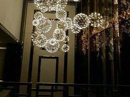 酒店电梯厅主入口中空装饰灯工厂铭星灯饰专业定制吊饰