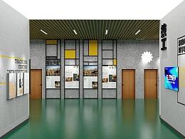 浙江平湖高级技工学校实训楼大厅及1楼文化设计