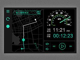 车内地图导航界面