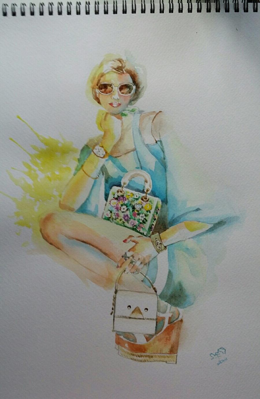 手绘时装插画(女装)|休闲/流行服饰|服装|箐蛙