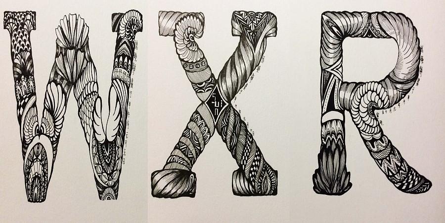 英伦字母手绘风 概念设定 插画 娜鲁娃