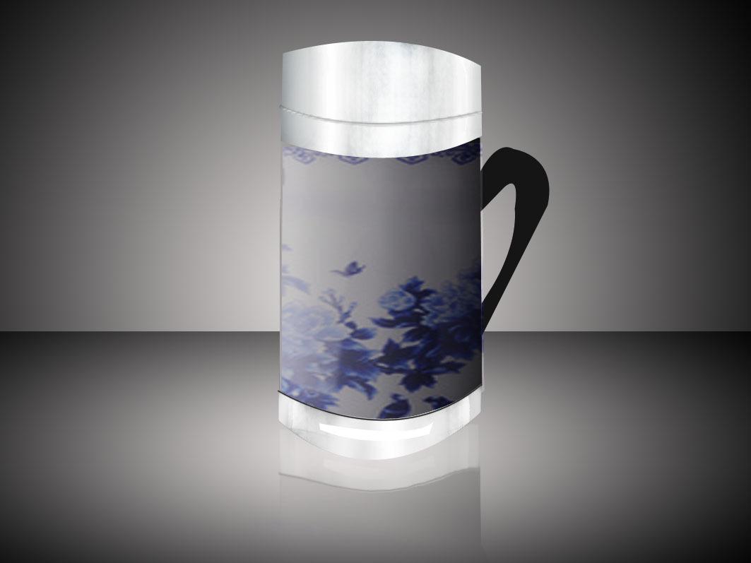 手绘玻璃杯