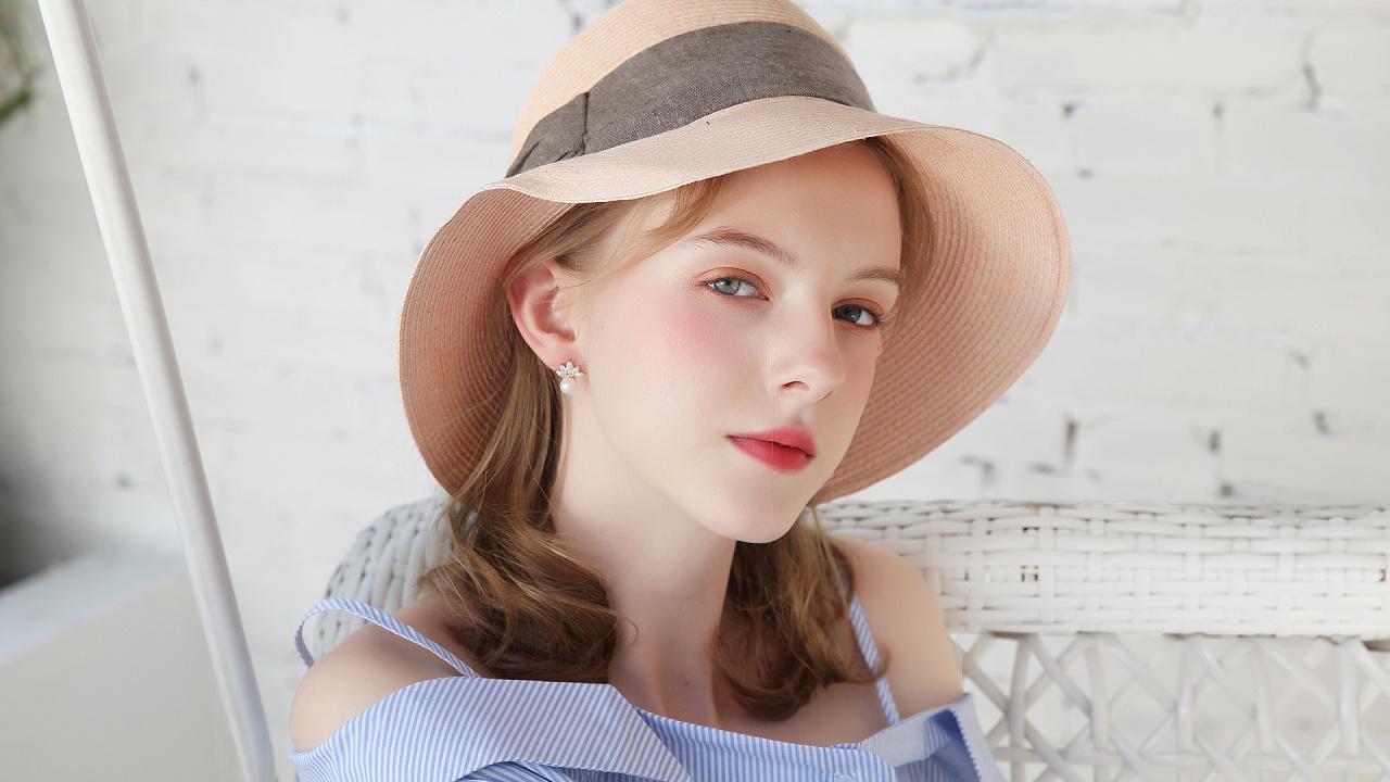 美女耳环拍照美女模特修图v美女承接排版第二期户外饰品图图片
