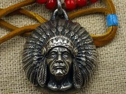 印第安酋长双面鹰挂坠