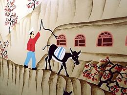 哈尔滨墙绘丨哈尔滨山后屯老驴驴肉馆彩绘