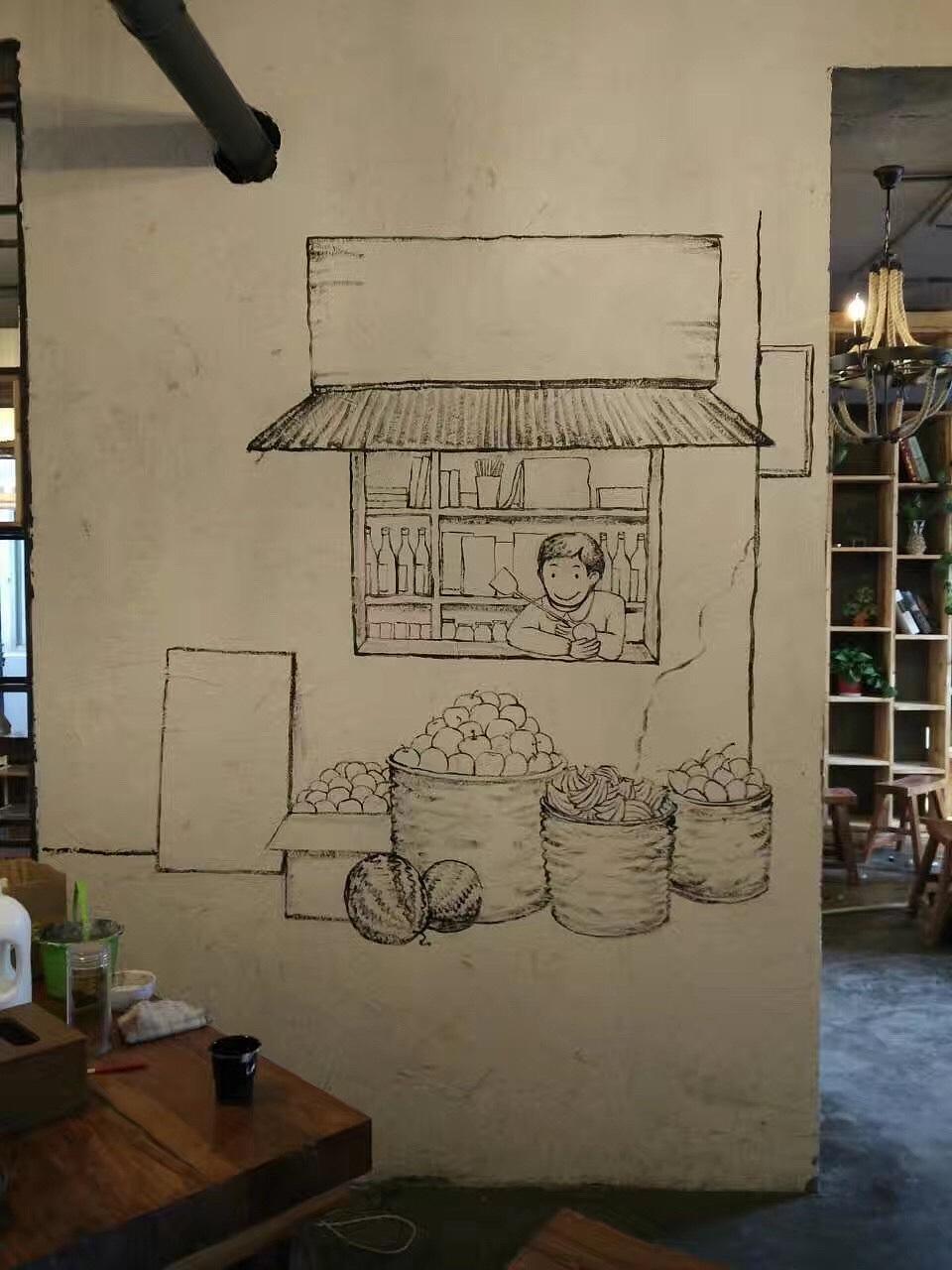 手绘墙-火锅店