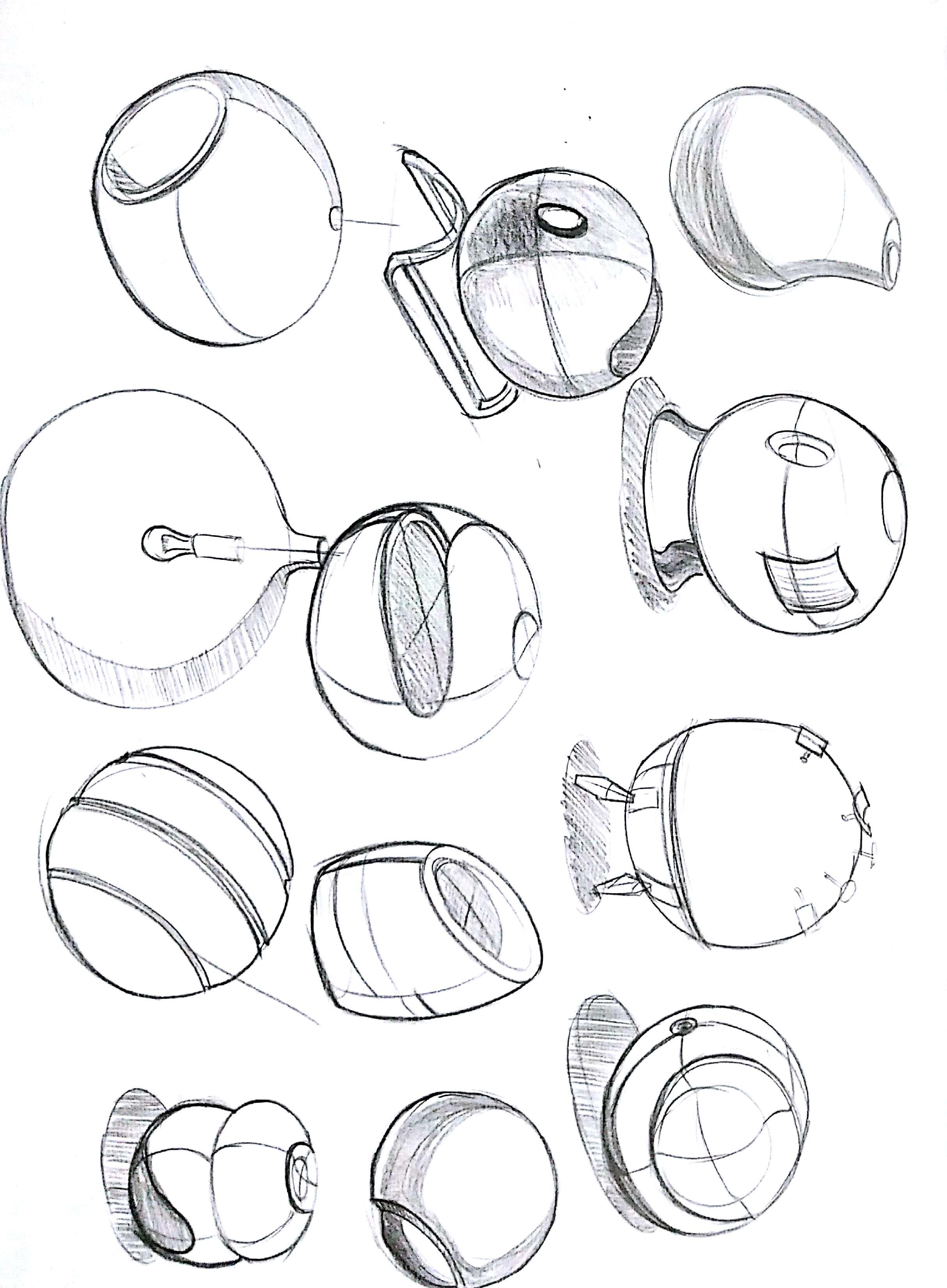 简约工业圆设计手绘