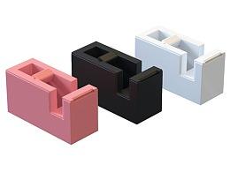木仓学院AutoCAD胶带座三维建模和渲染