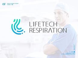 【肖维野纳】呼吸科技LOGO设计丨科技类肺功能LOGO设计