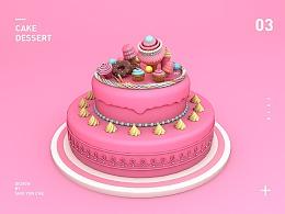 C4D蛋糕甜品建模