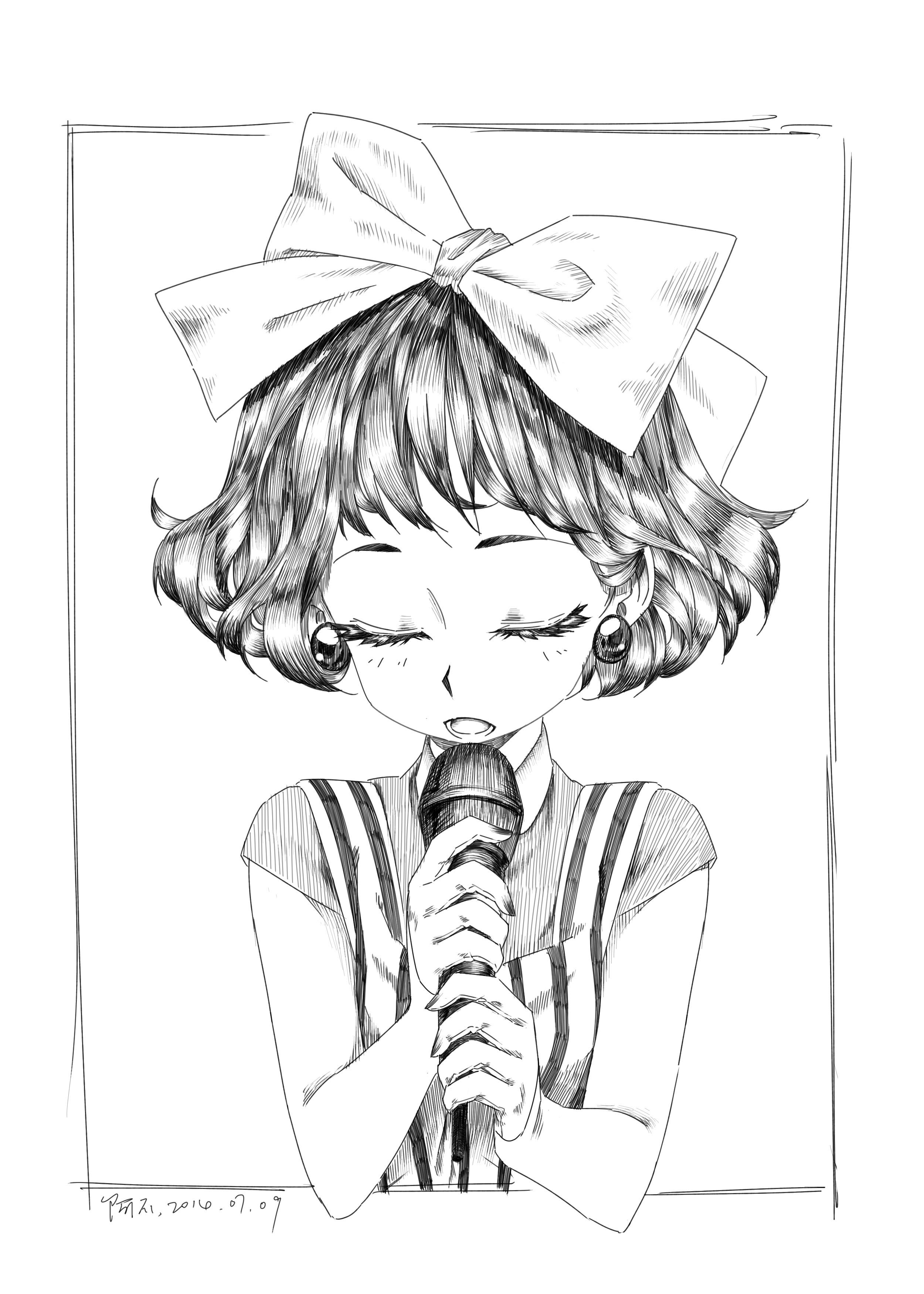 黑白手绘线稿