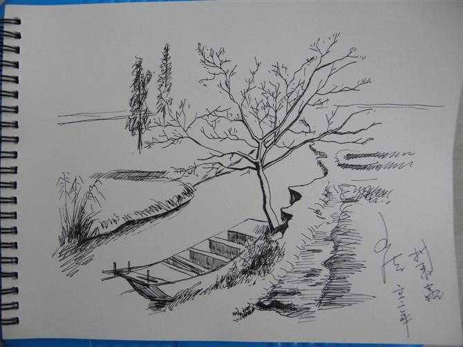 怎样画好风景速写   建议你坚持用钢笔画速写,风景速写的一个关键是