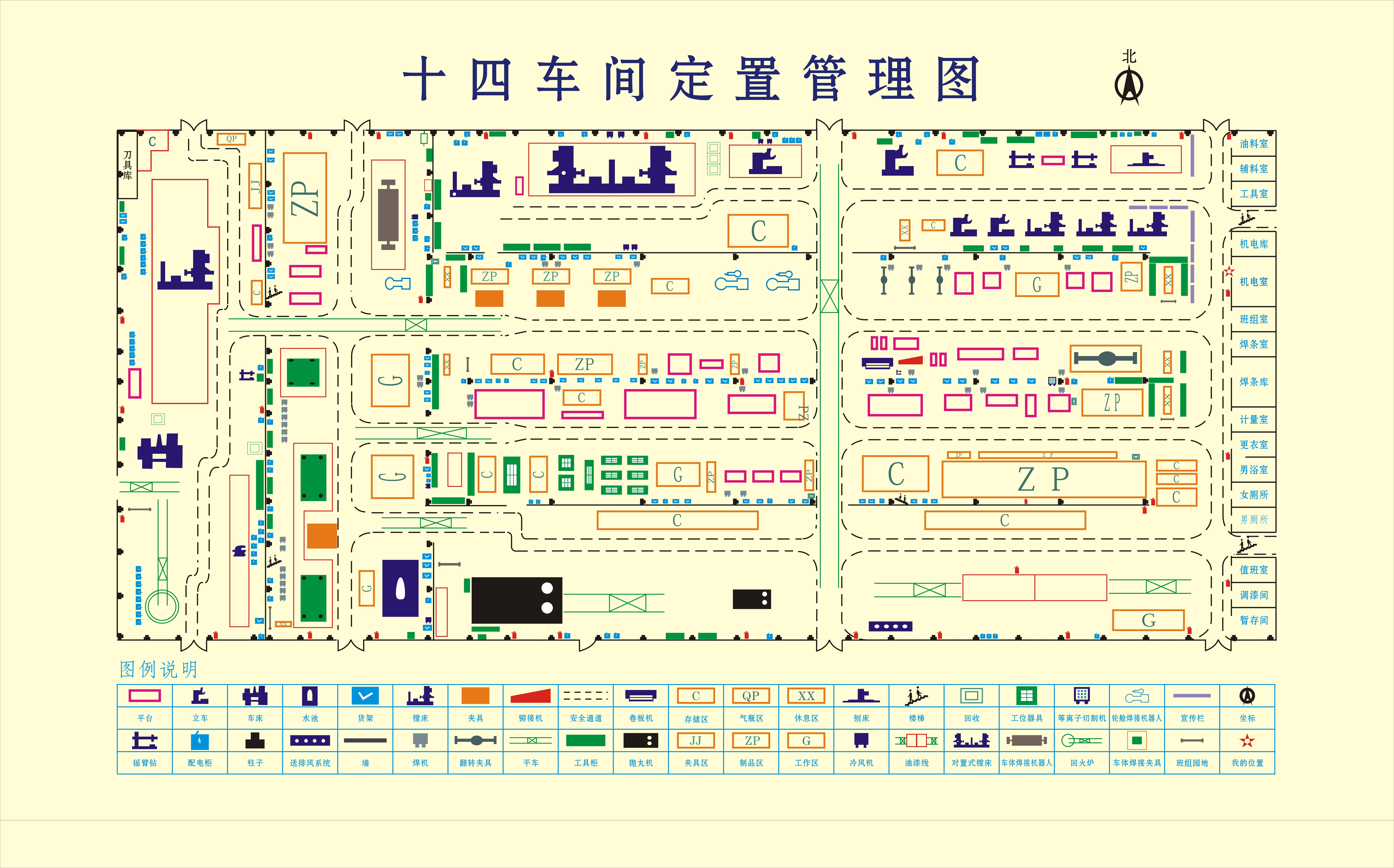 十四车间定置管理图