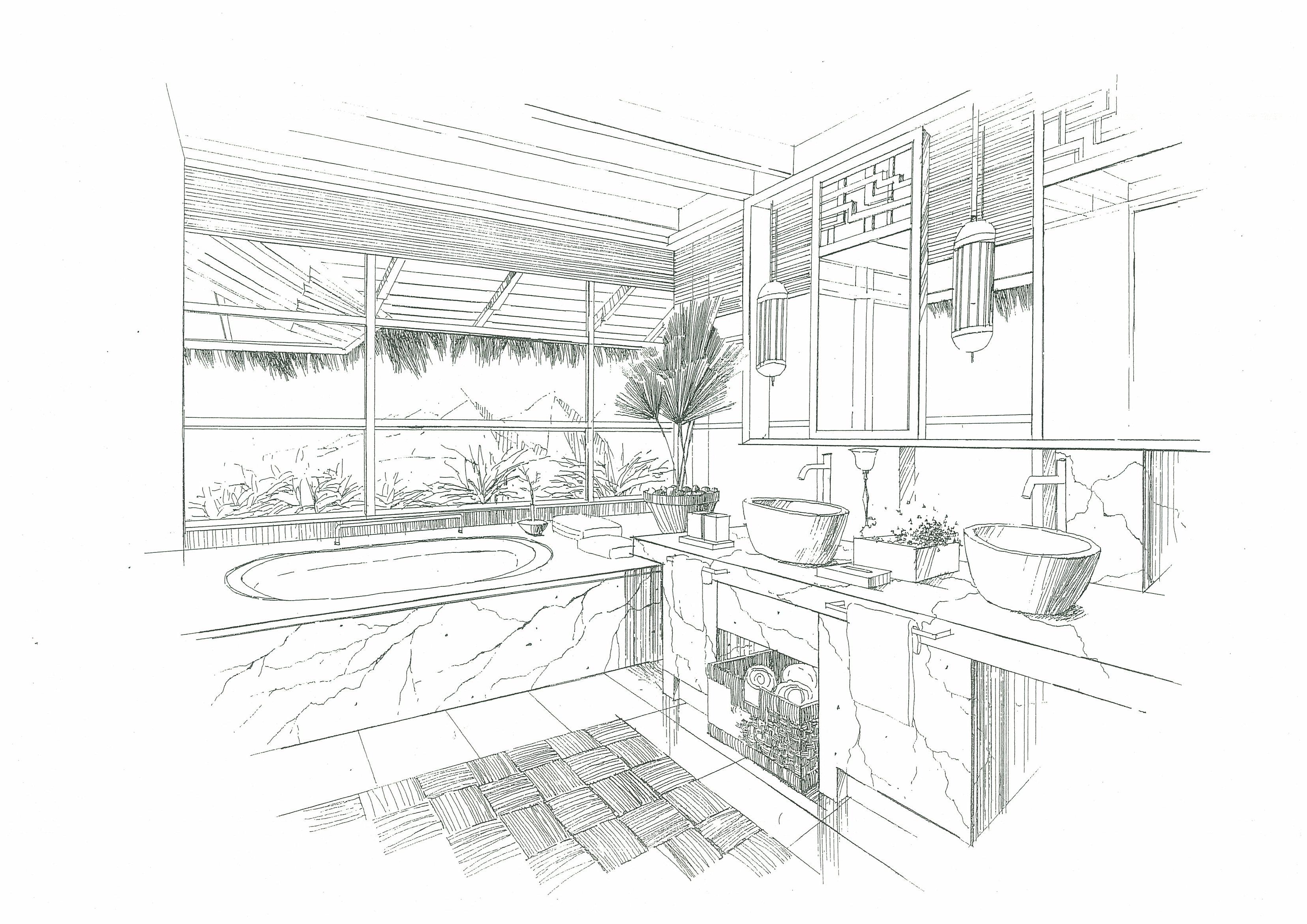 室内空间手绘作品
