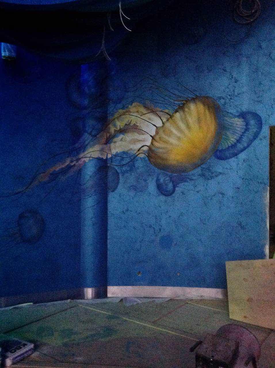 海底世界墙体彩绘 其他 墙绘/立体画 广州3d立体画