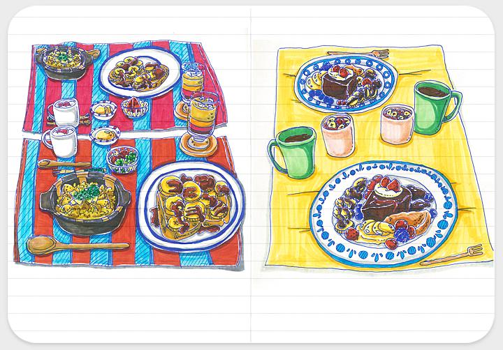 爱的早餐系列手绘小插画-2|绘画习作|插画|圈小圈yo