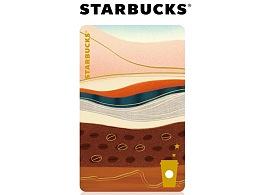 星巴克星享卡-咖啡地貌卡面设计