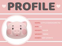 LITTLE HANDSOME PIG - IP形象设计