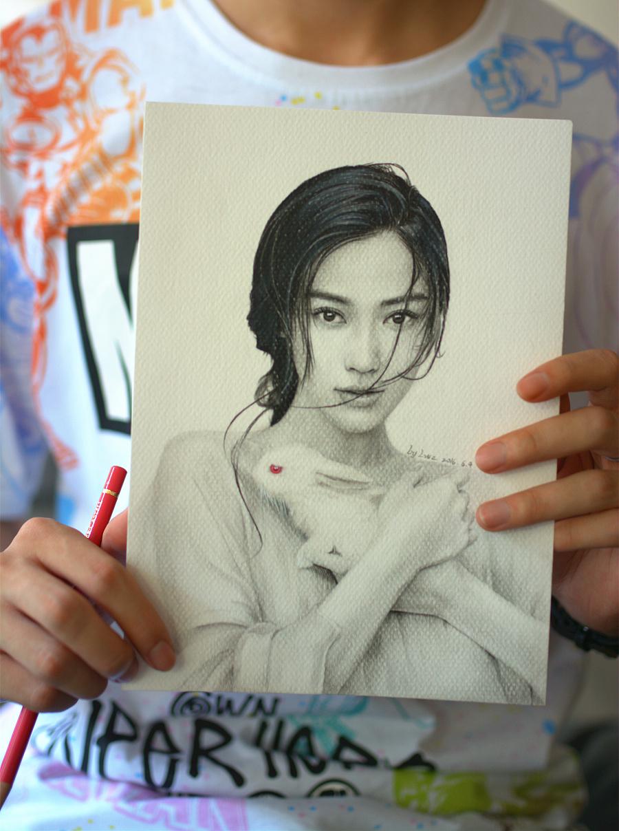 anglelababy杨颖——素描|插画习作|插画|lovelele