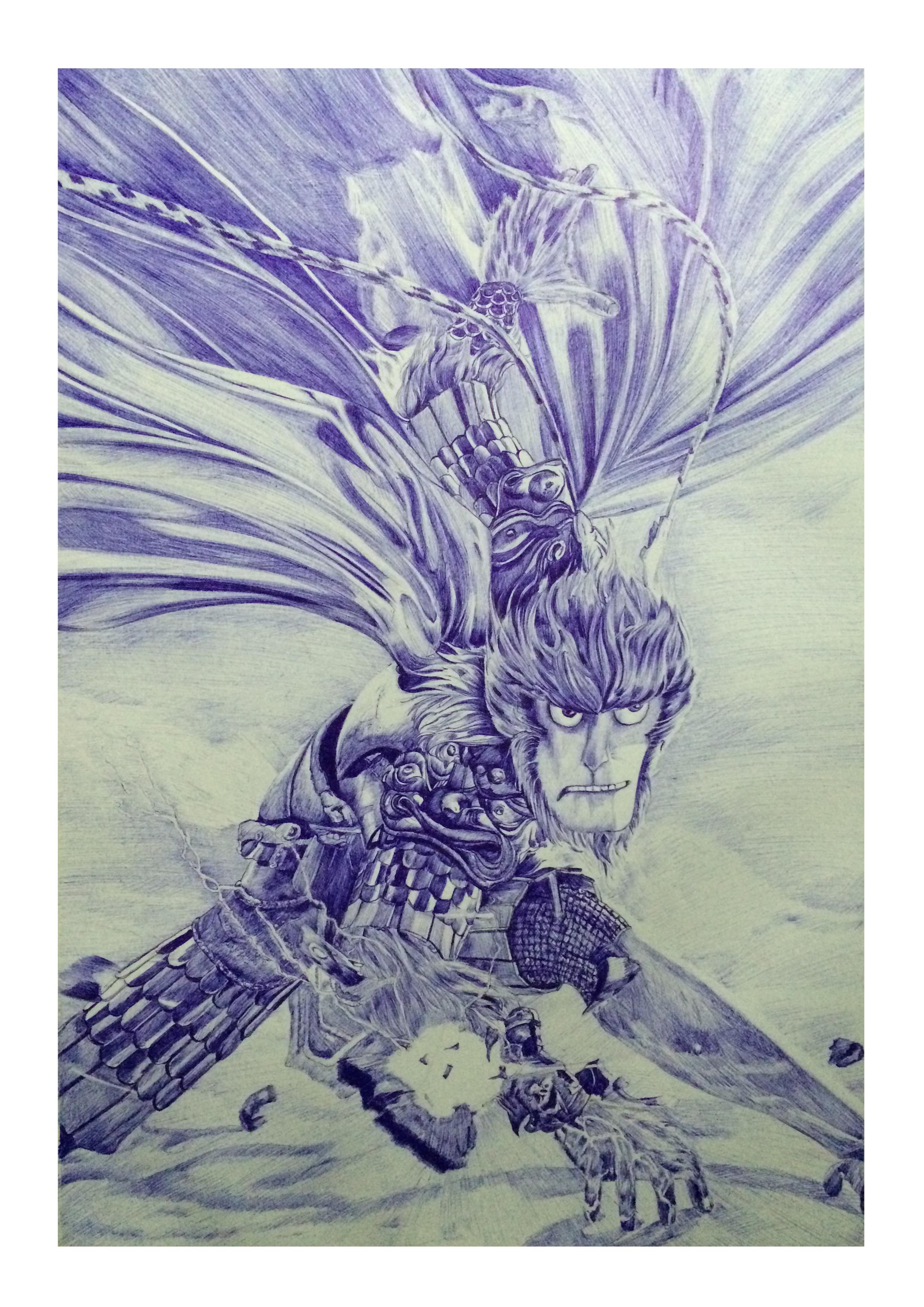 《大圣归来》海报手绘