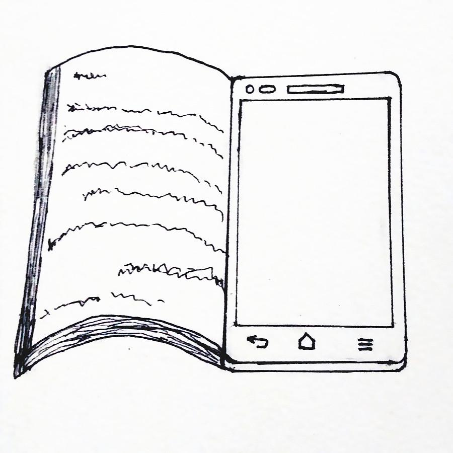 书本的简笔画-置换插画设计1