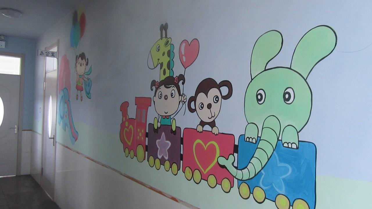 七七手绘墙画—丰乐向阳花幼儿园作品图片