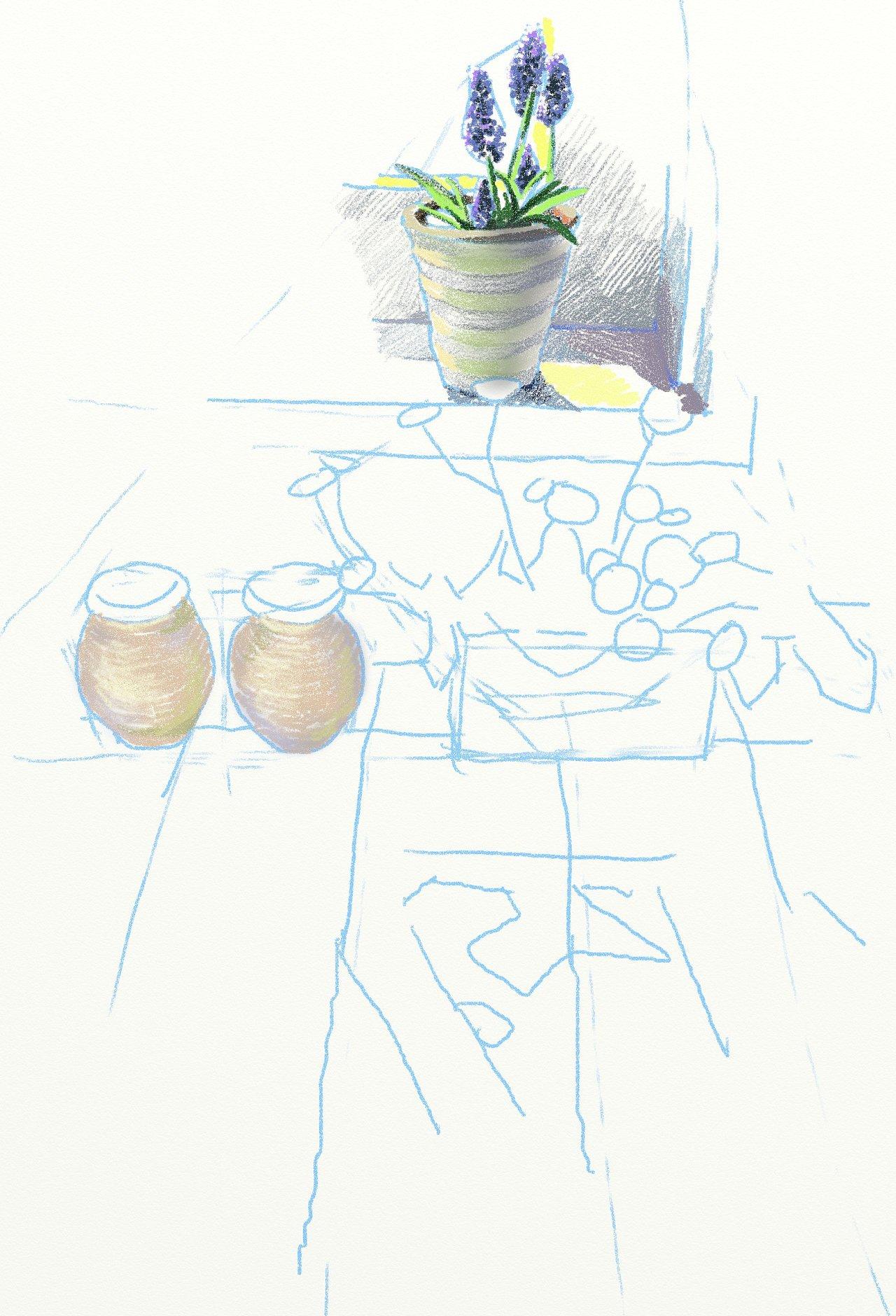 手绘板彩铅练习稿
