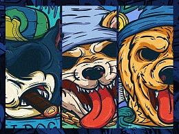 Doggy潮流插画系列