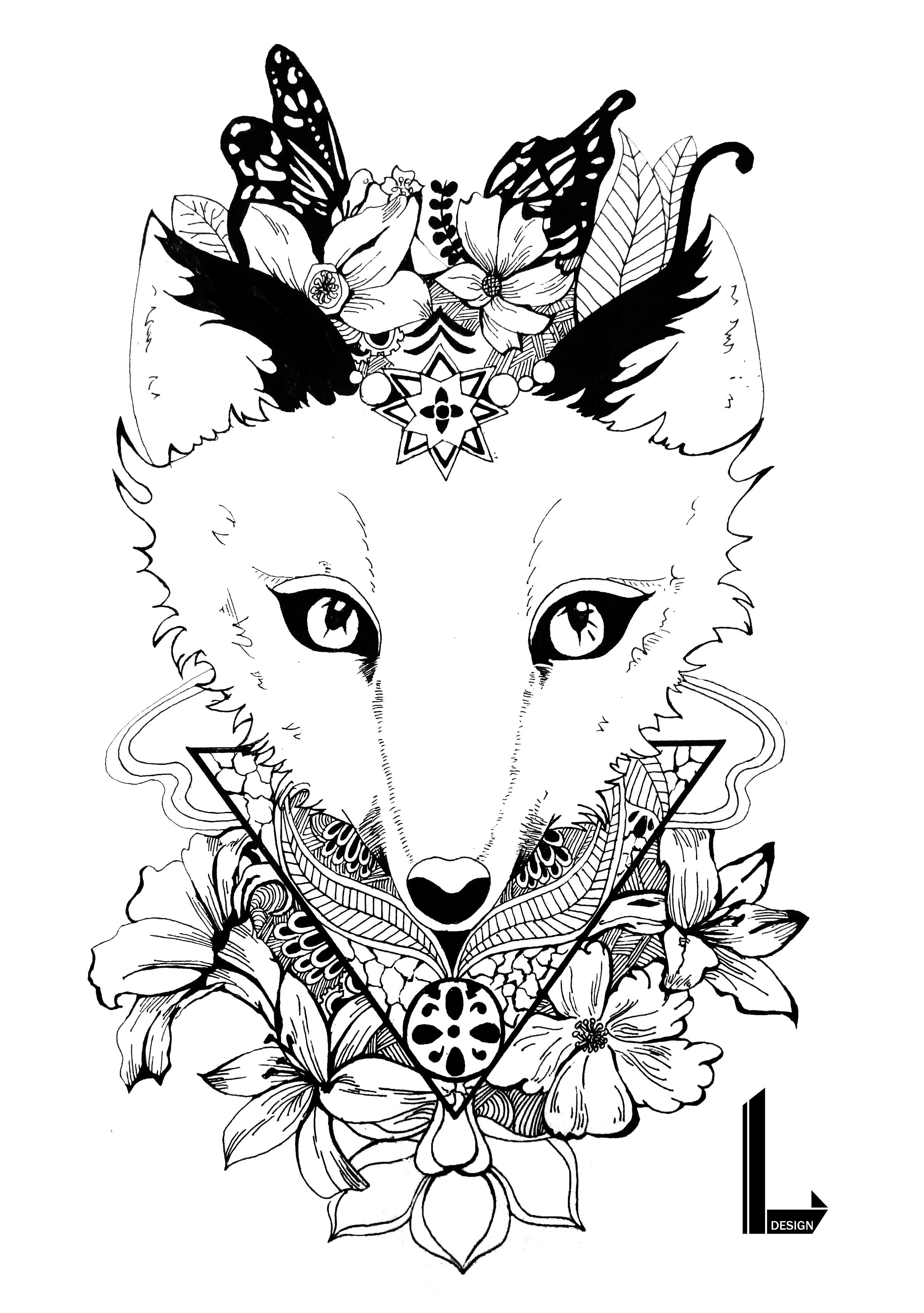 动物系列-黑白手绘装饰画