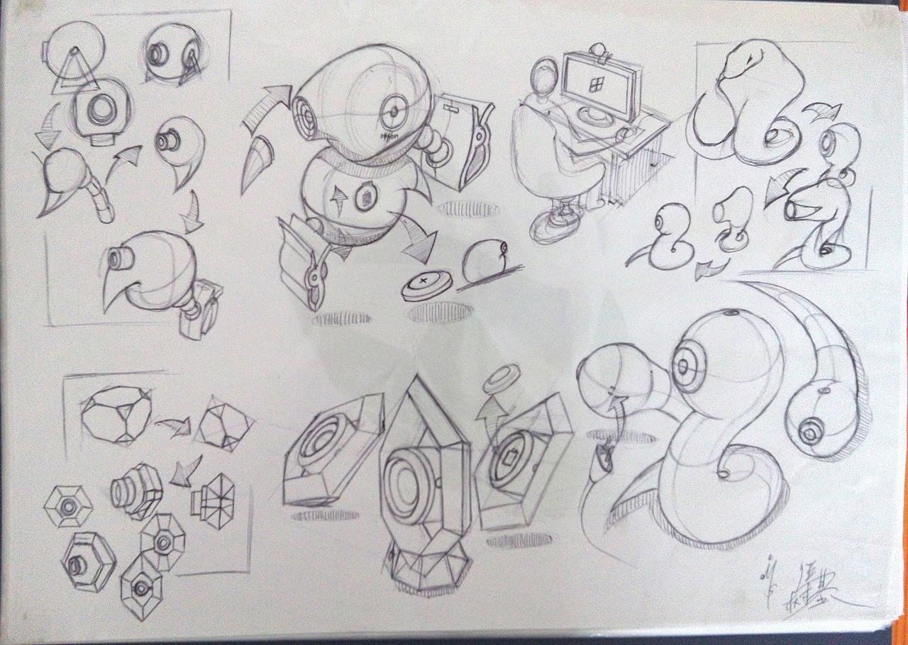 工业设计手绘稿练习|工业/产品|工业用品/机械|蓝枫爱