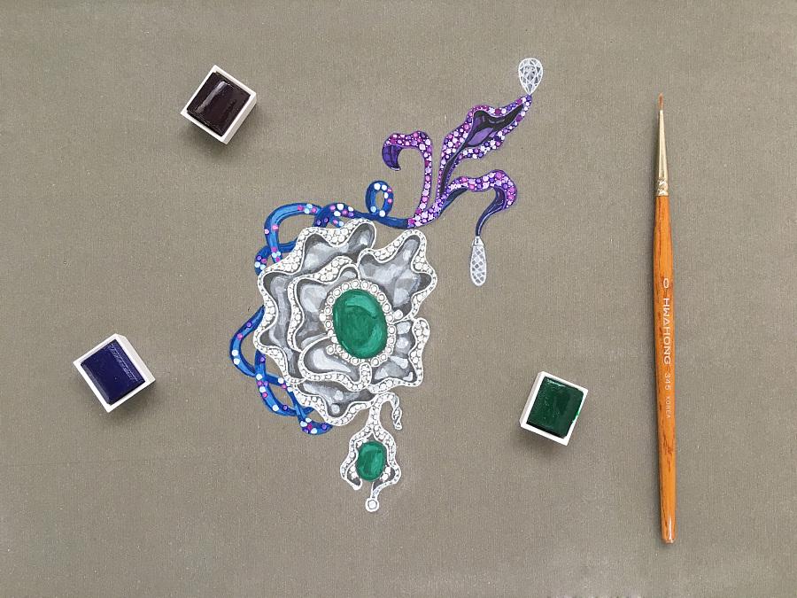 珠宝手绘|首饰|手工艺|jerriswen - 原创设计作品