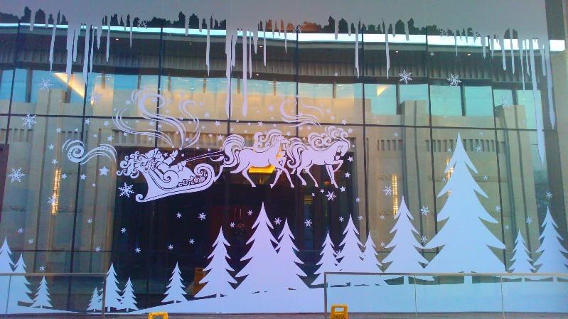 商业街包装 清悦空间 圣诞主题装饰|展示/橱窗/店面图片
