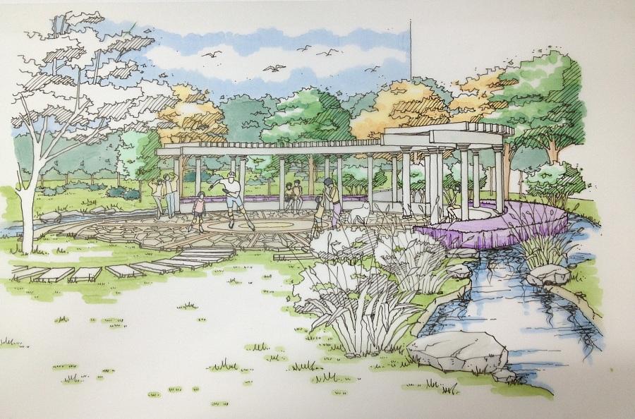 景观手绘作品|园林景观/规划|空间/建筑|兔宝儿1104