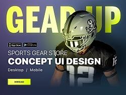 Sports Gear Store UI - [附源文件]