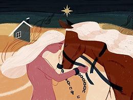 猫空白日梦-以梦为马主题插画比赛作品