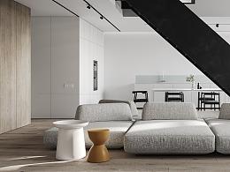 易梵/室内住宅/练习场景-灰色公寓