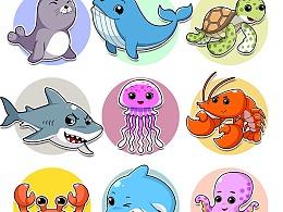 海洋卡通 形象角色设计