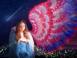 [分形插画] 天使的翅膀 (免费壁纸 · 请勿商用)