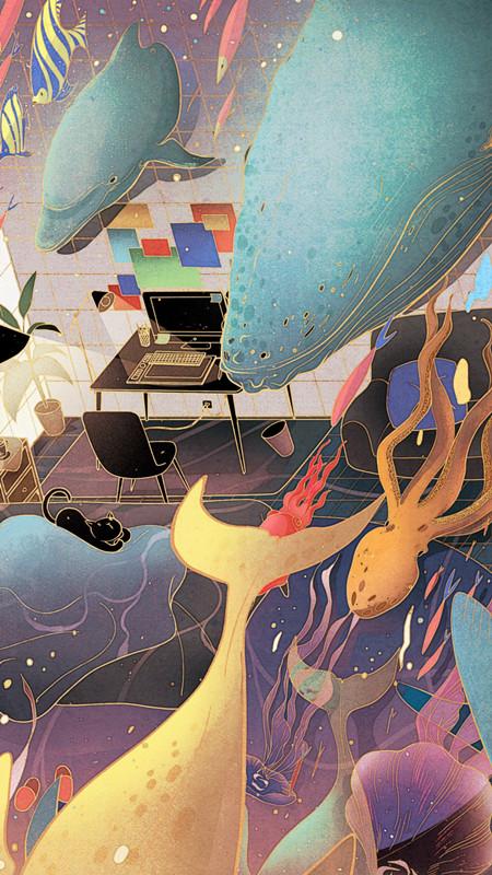 查看《倾斜的梦与房间》原图,原图尺寸:450x800