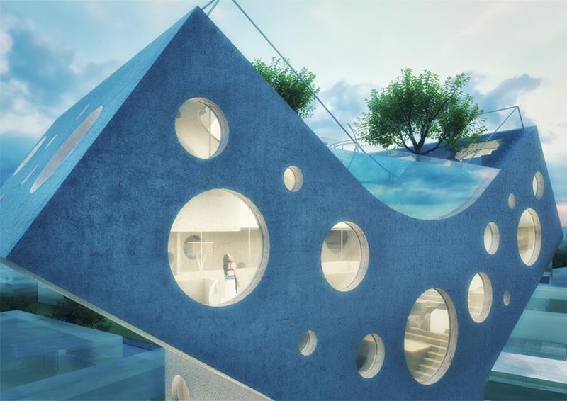 查看《 'Y形别墅':一座远离城市喧嚣,配备屋顶泳池的私家住宅》原图,原图尺寸:800x566