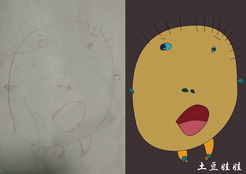土豆手绘图片素材