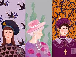戴帽子的女人们