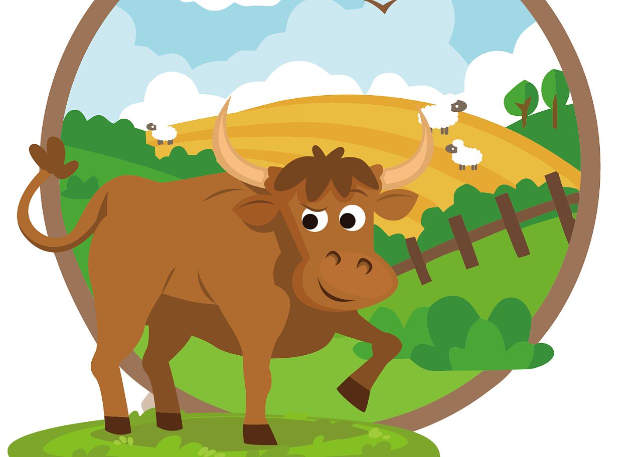卡通可爱耗牛肉零食包装